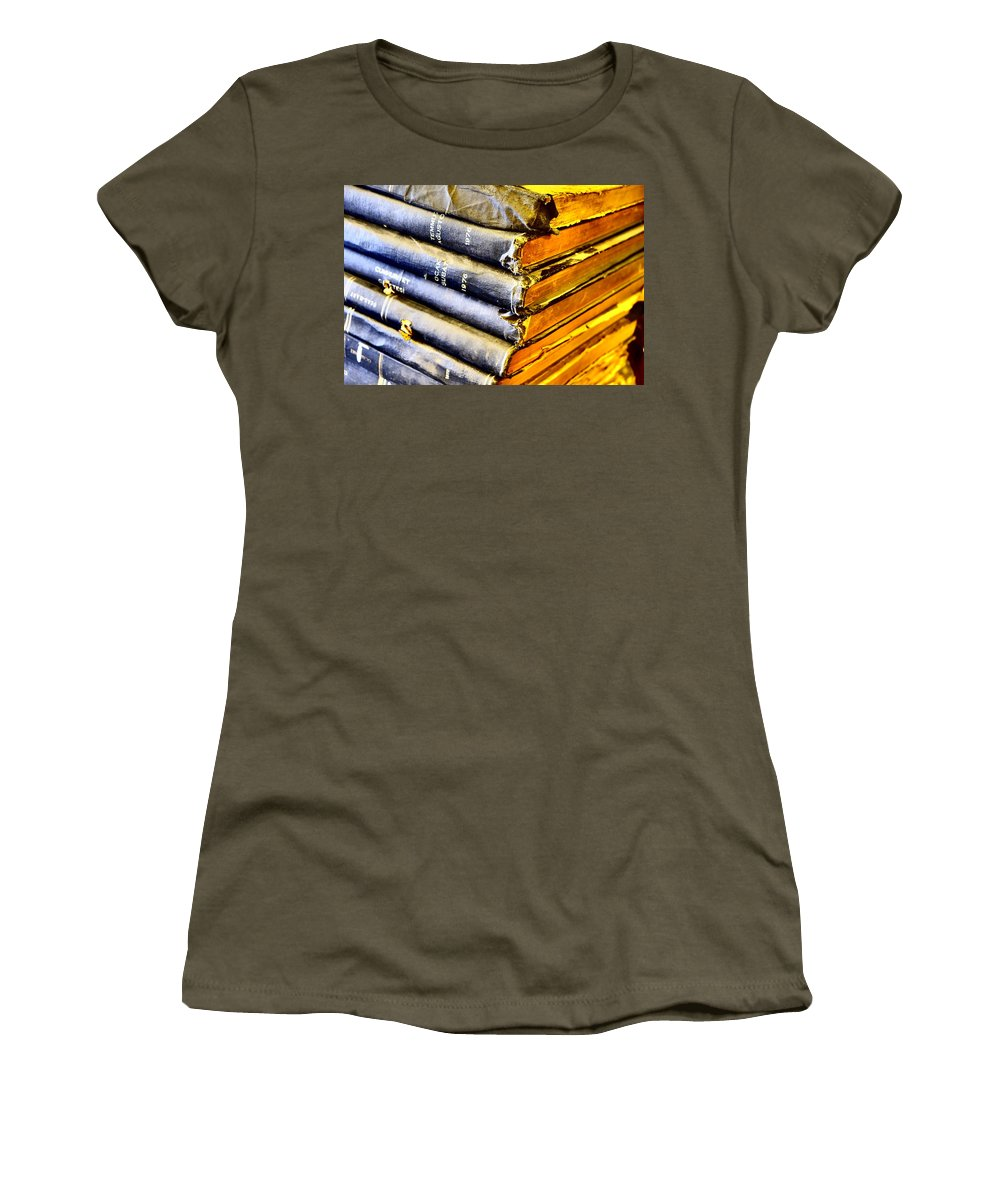 Books Women's T-Shirt (Athletic Fit) featuring the photograph Wikipedia Origins by Tom Maimran