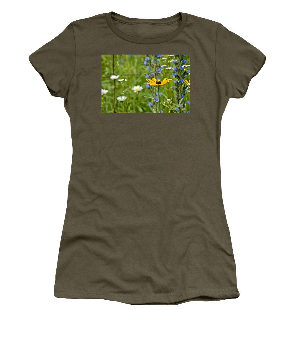 Wild Flowers Women's T-Shirt featuring the photograph Wild Flower Delight by Cheryl Baxter