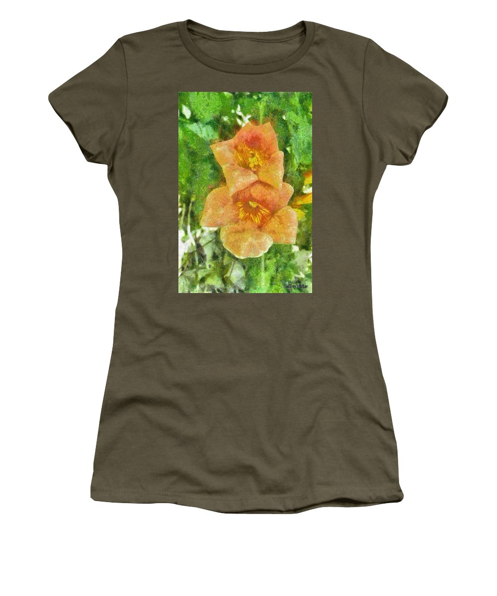 Bloom Women's T-Shirt featuring the painting Wild Flowers by Jeffrey Kolker