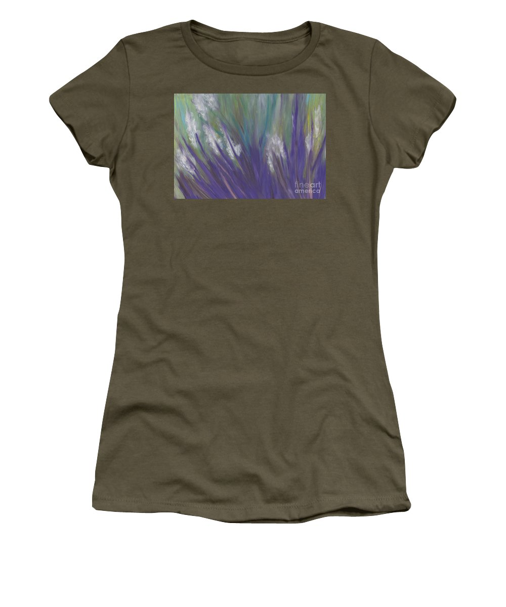First Star Art Women's T-Shirt featuring the painting Wildflowers By Jrr by First Star Art