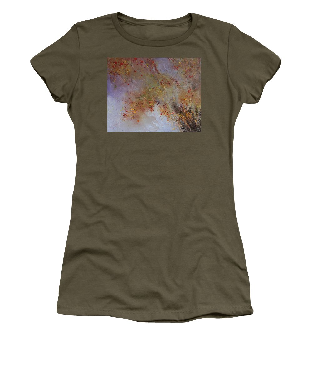 Willow Women's T-Shirt (Athletic Fit) featuring the painting Willow by Ruth Kamenev