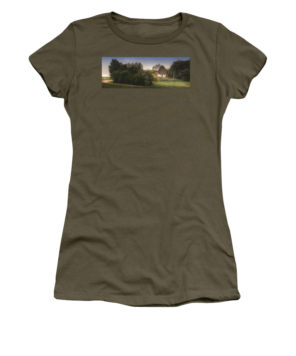 Rural Women's T-Shirt (Athletic Fit) featuring the photograph Winding Home by Melinda Martin