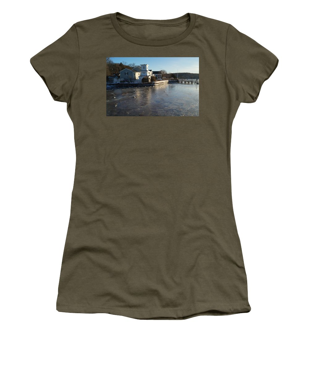 Winter Women's T-Shirt featuring the photograph Winter Harbor by John Wall