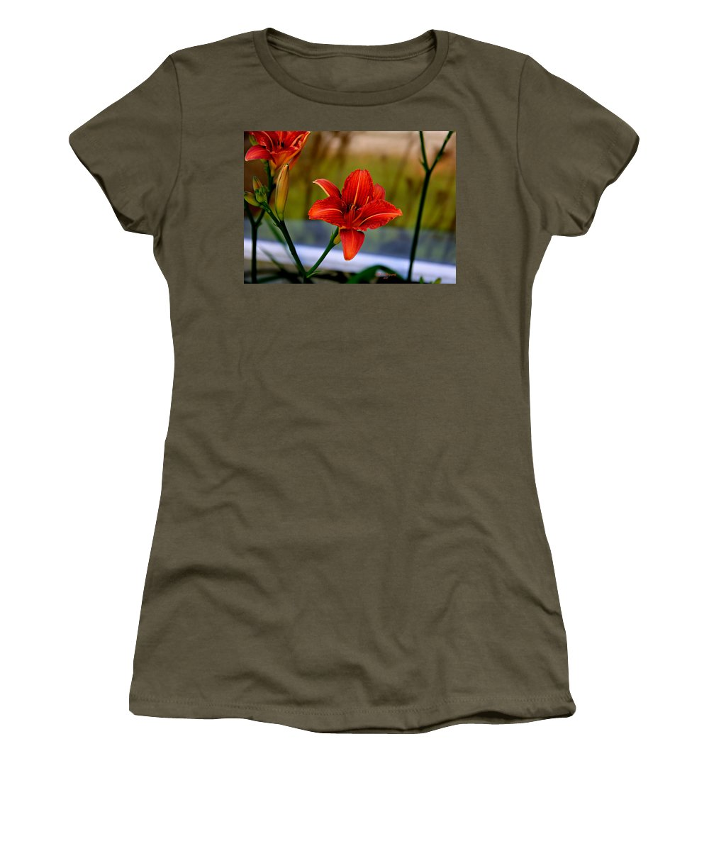 Lily Women's T-Shirt featuring the photograph With Open Arms by Jeanette C Landstrom