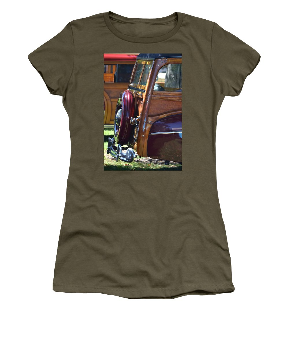 Women's T-Shirt featuring the photograph Woodie by Dean Ferreira