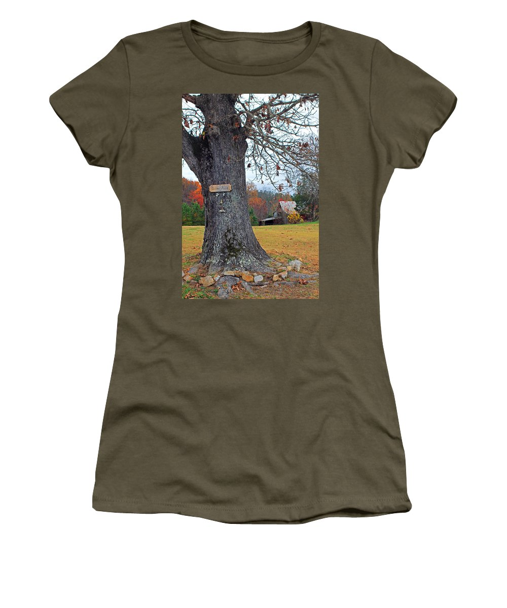 Barn Women's T-Shirt featuring the photograph Worried Tree by Jennifer Robin