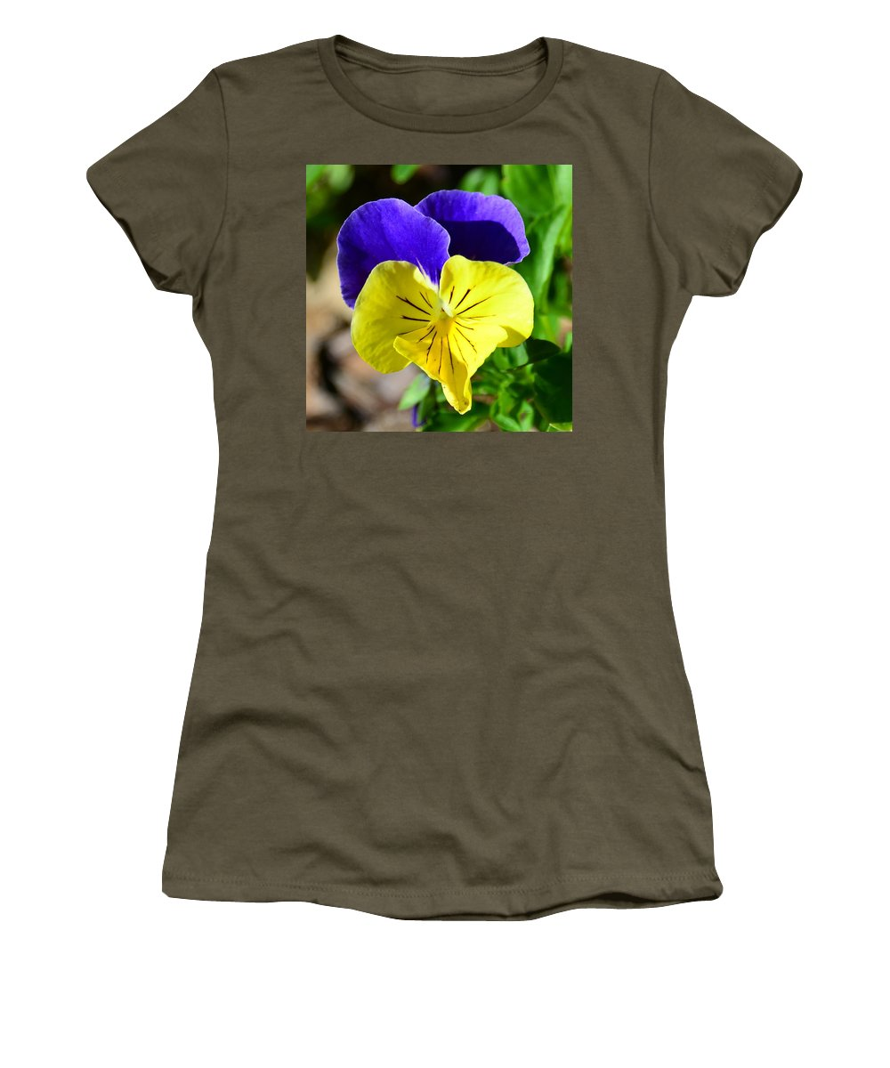Yellow Heart Women's T-Shirt (Athletic Fit) featuring the photograph Yellow Heart by David Lee Thompson