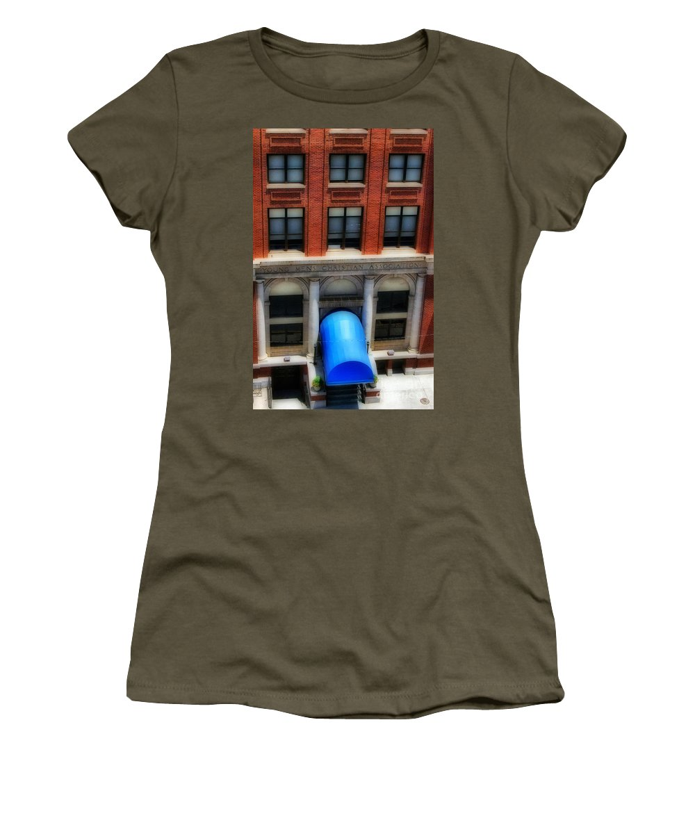 Scenic Tours Women's T-Shirt featuring the photograph Ymca by Skip Willits