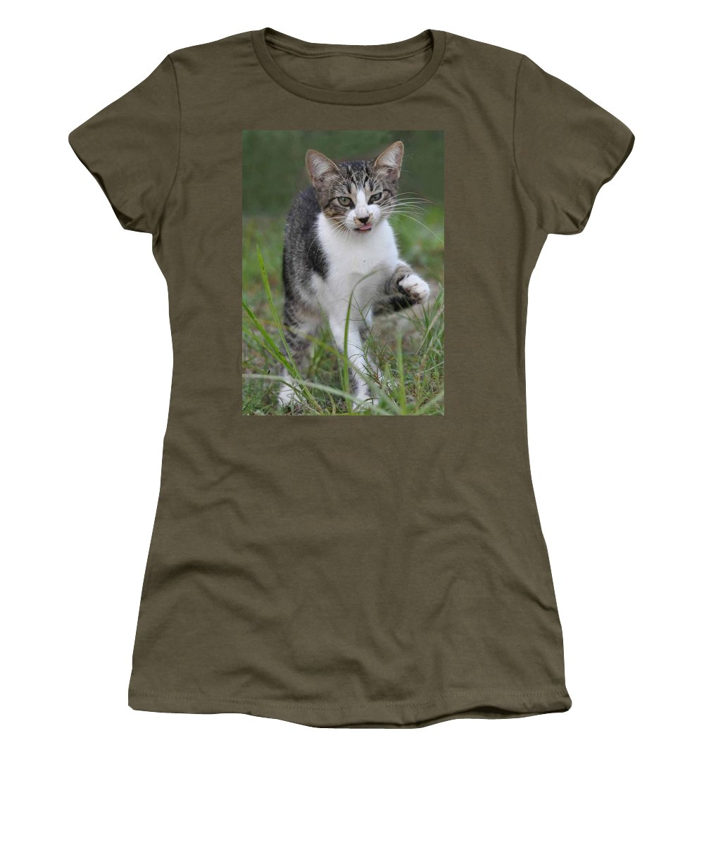 Pet Women's T-Shirt featuring the photograph Yuck by Charlotte Schafer