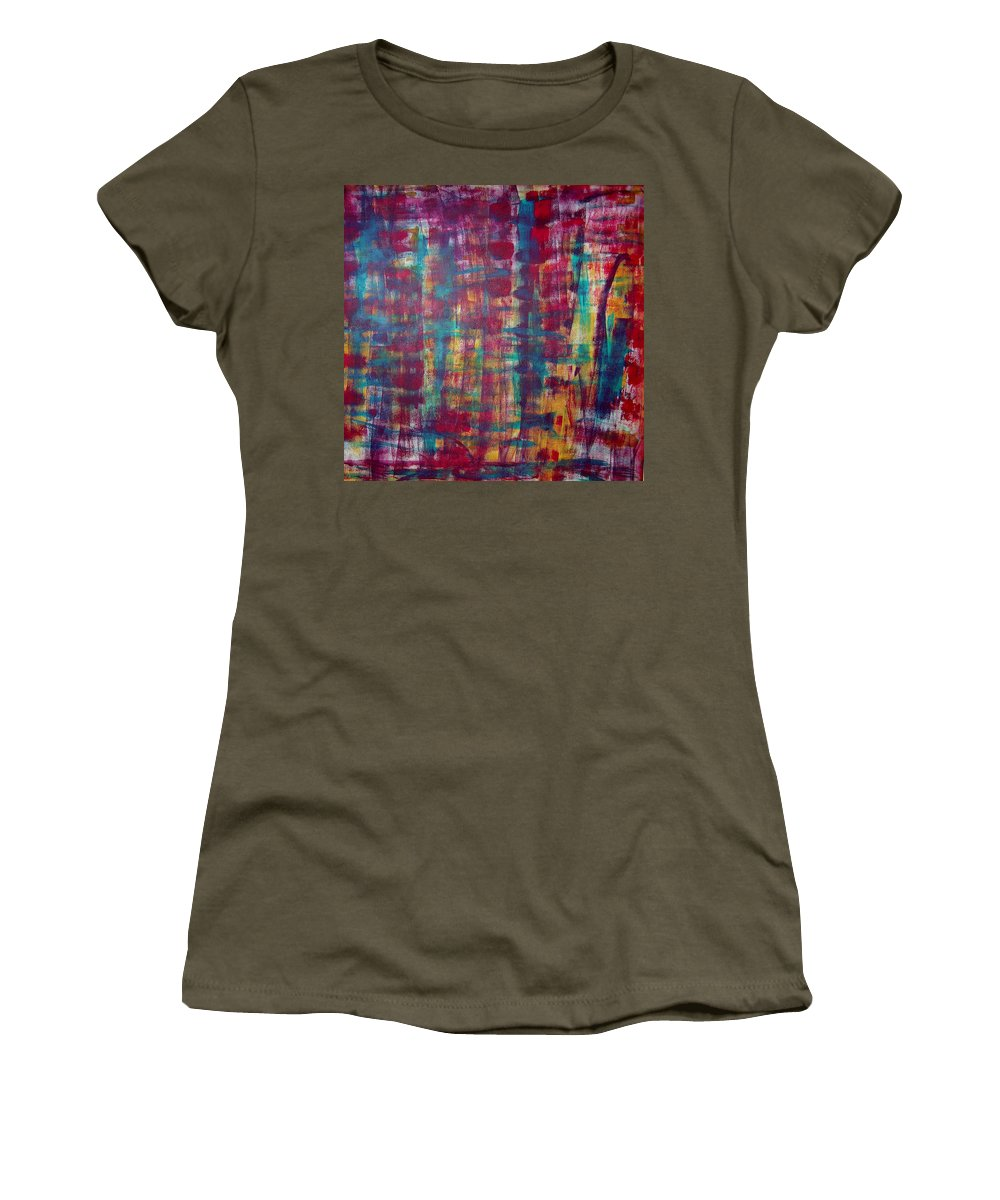 Abstract Painting Women's T-Shirt featuring the painting Z2 by Kunst mit Herz Art with Heart