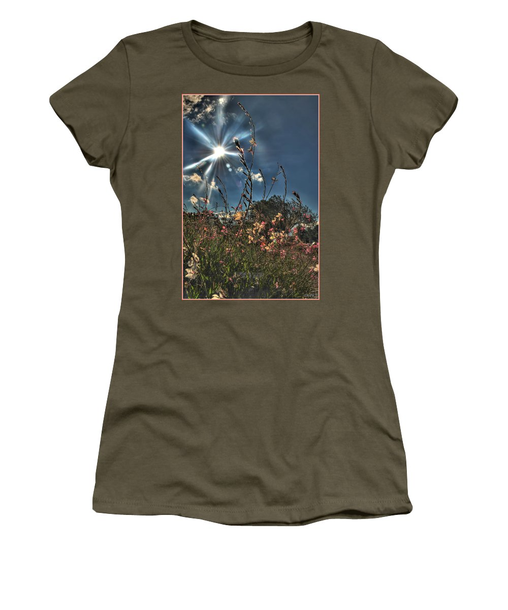 Women's T-Shirt featuring the photograph 001 Summer Sunrise Series by Michael Frank Jr
