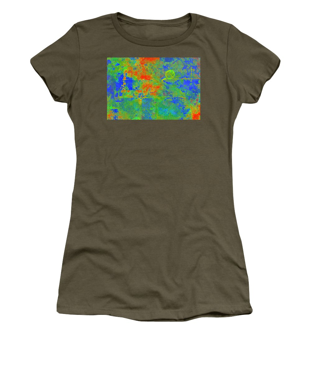 Tectonic Women's T-Shirt featuring the painting Tectonic Shift by Christopher Gaston
