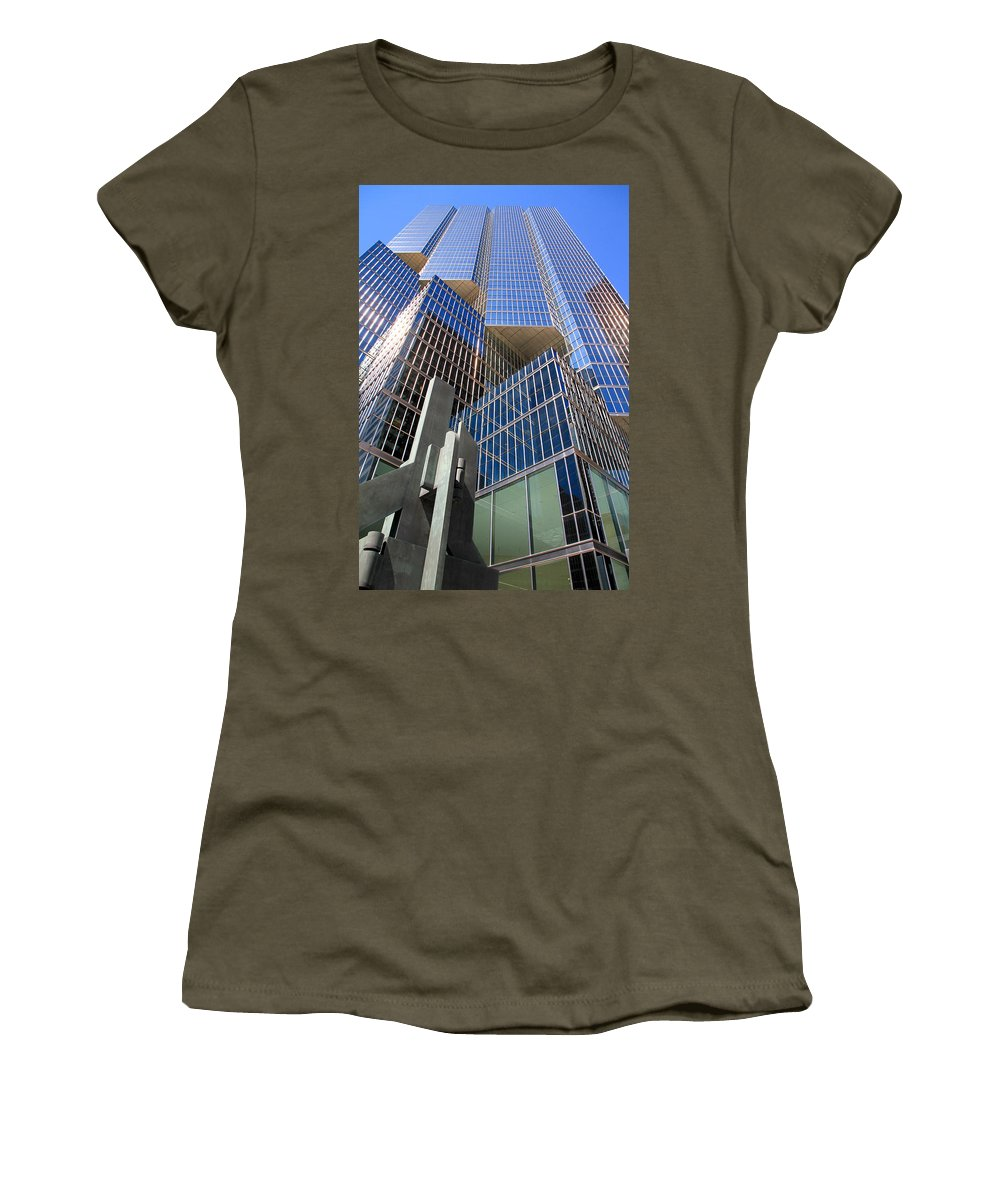 Modern Women's T-Shirt featuring the photograph Toronto Financial Core Buildings by Valentino Visentini