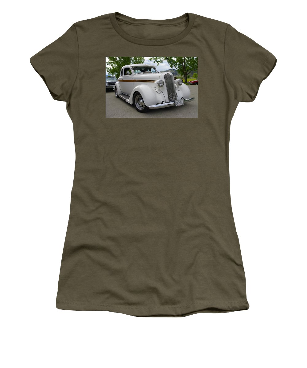 1936 Women's T-Shirt (Athletic Fit) featuring the photograph 1936 Plymouth by John Greaves