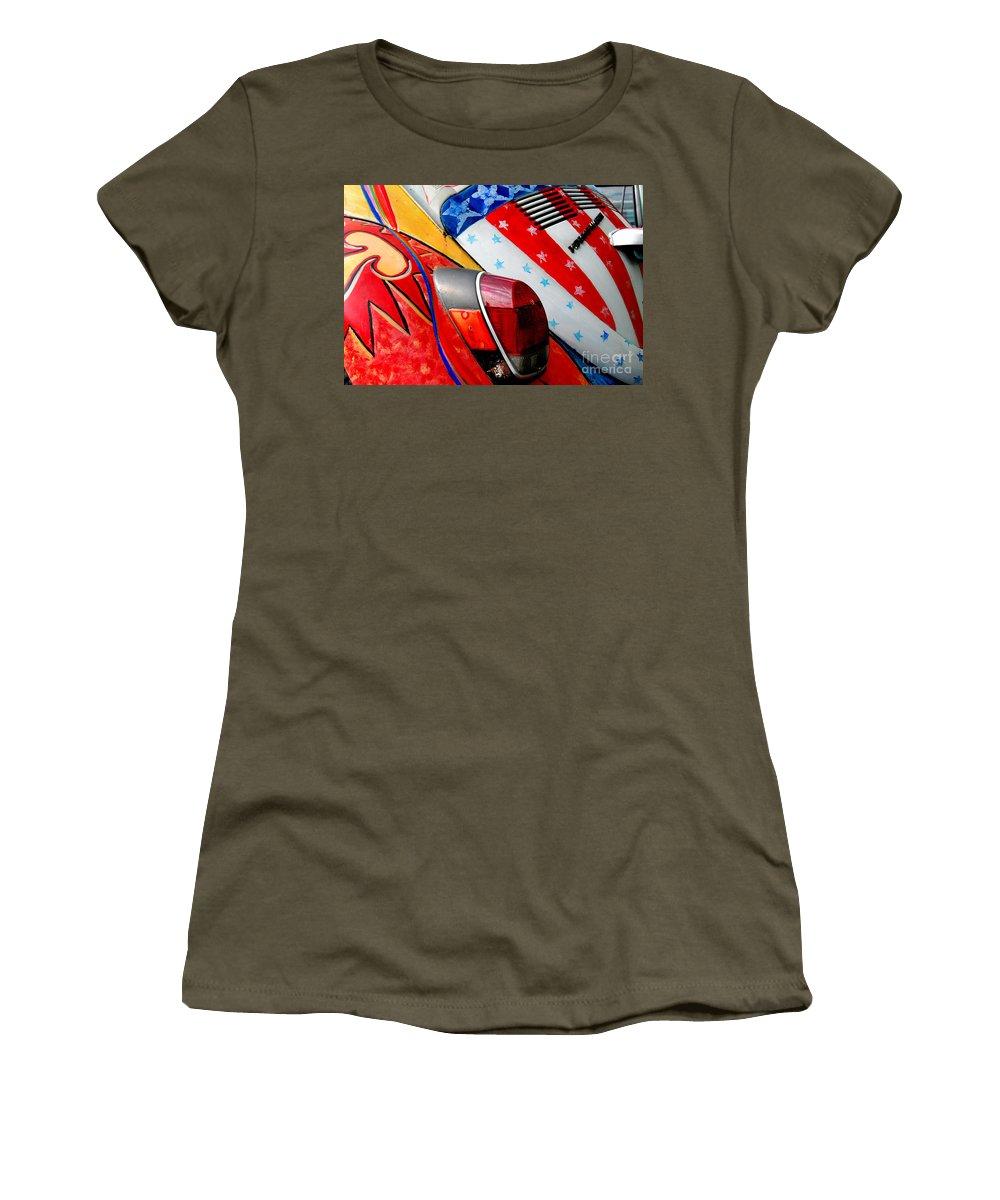 Head Shop Women's T-Shirt featuring the photograph 1972 Super Beetle by Guy Harnett