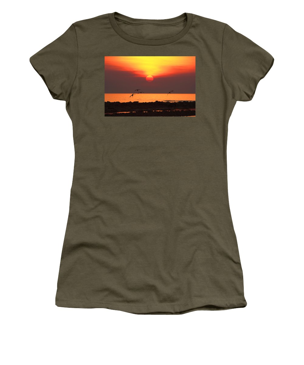 Sunset Women's T-Shirt (Athletic Fit) featuring the photograph Late Afternoon by Douglas Barnard