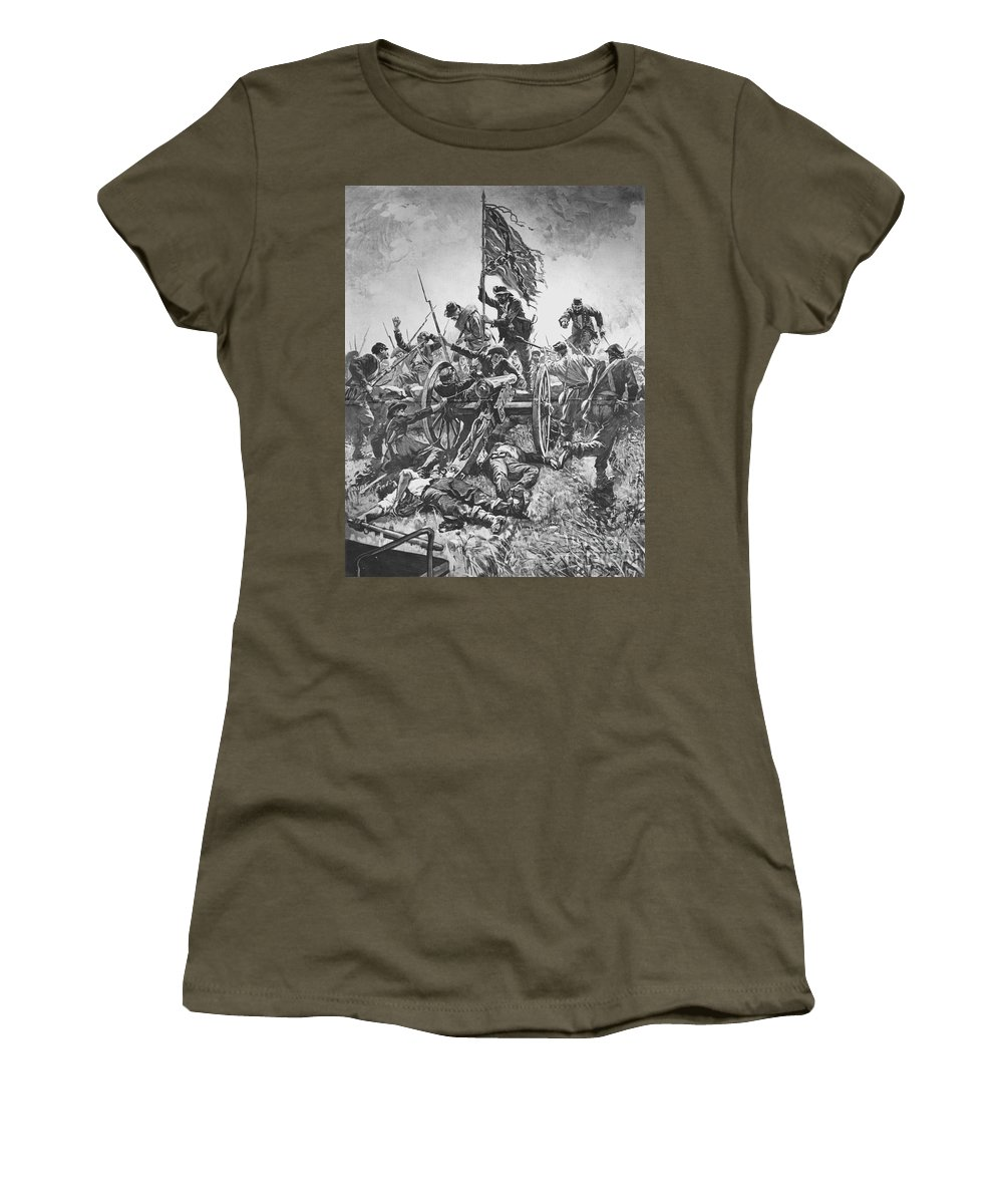 1863 Women's T-Shirt featuring the photograph Picketts Charge, 1863 by Granger