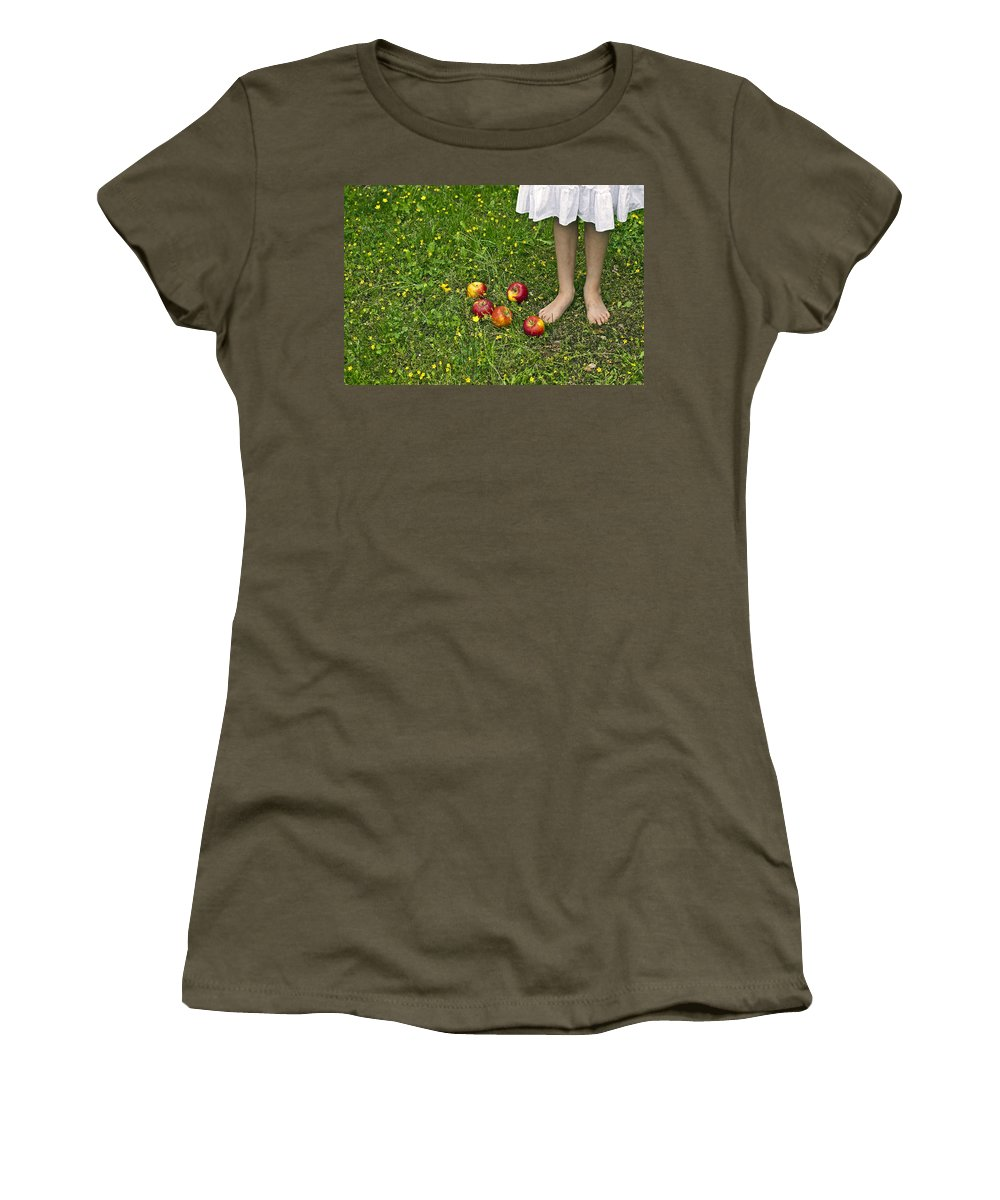Girl Women's T-Shirt (Athletic Fit) featuring the photograph Apples by Joana Kruse
