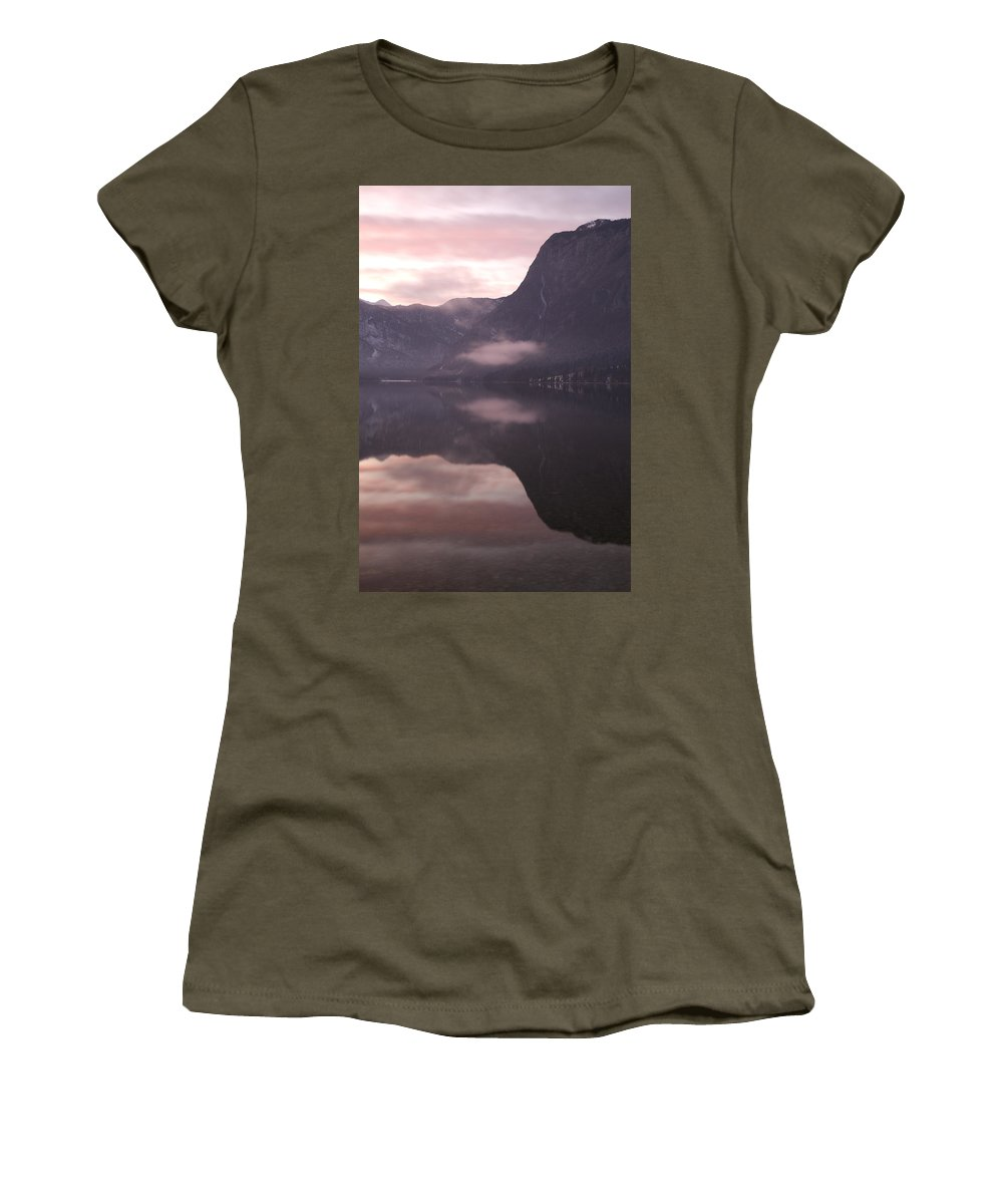 Bohinj Women's T-Shirt featuring the photograph First Sunset Of The Year by Ian Middleton