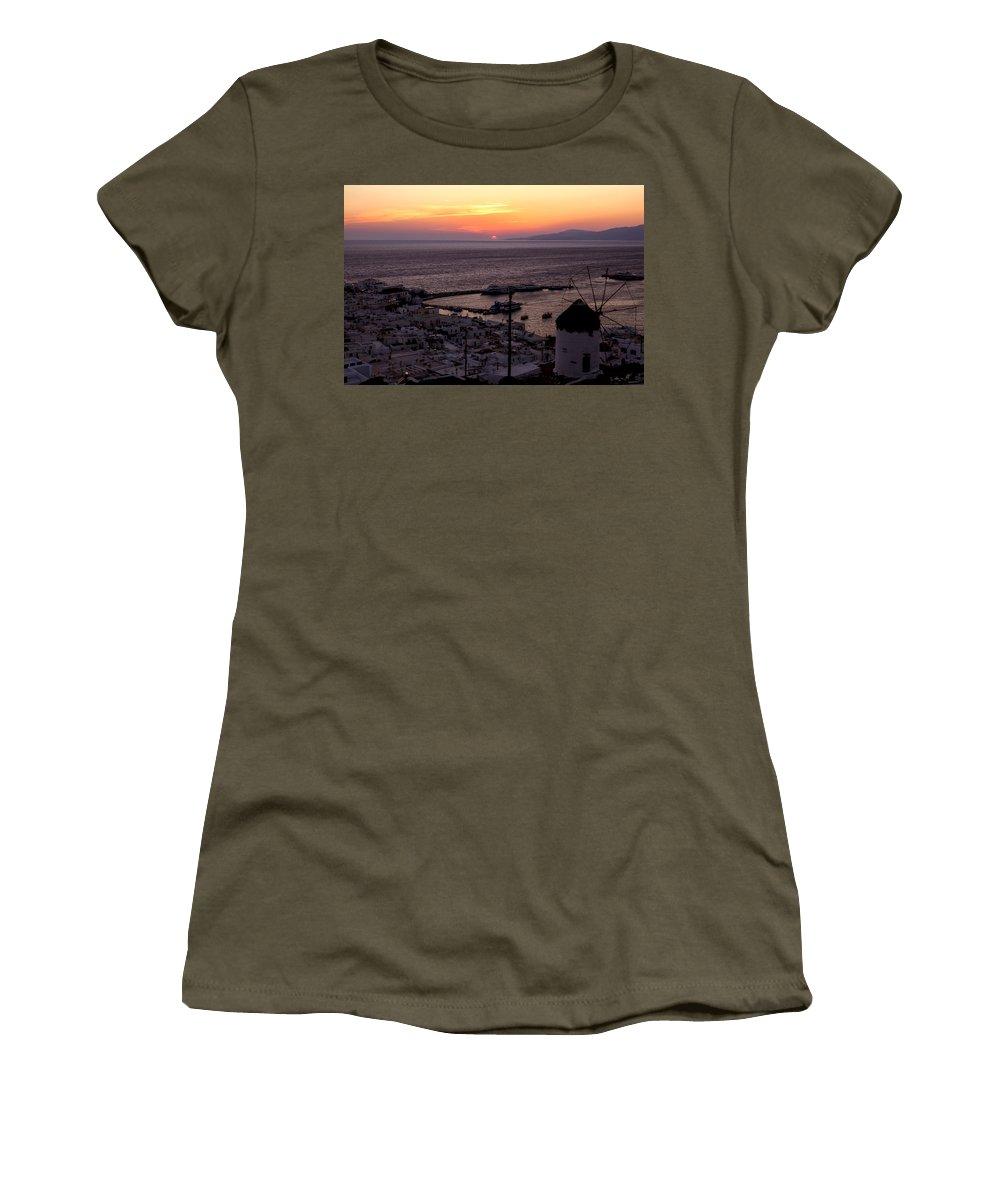 Ano Myli Women's T-Shirt featuring the photograph Mykonos by Joana Kruse