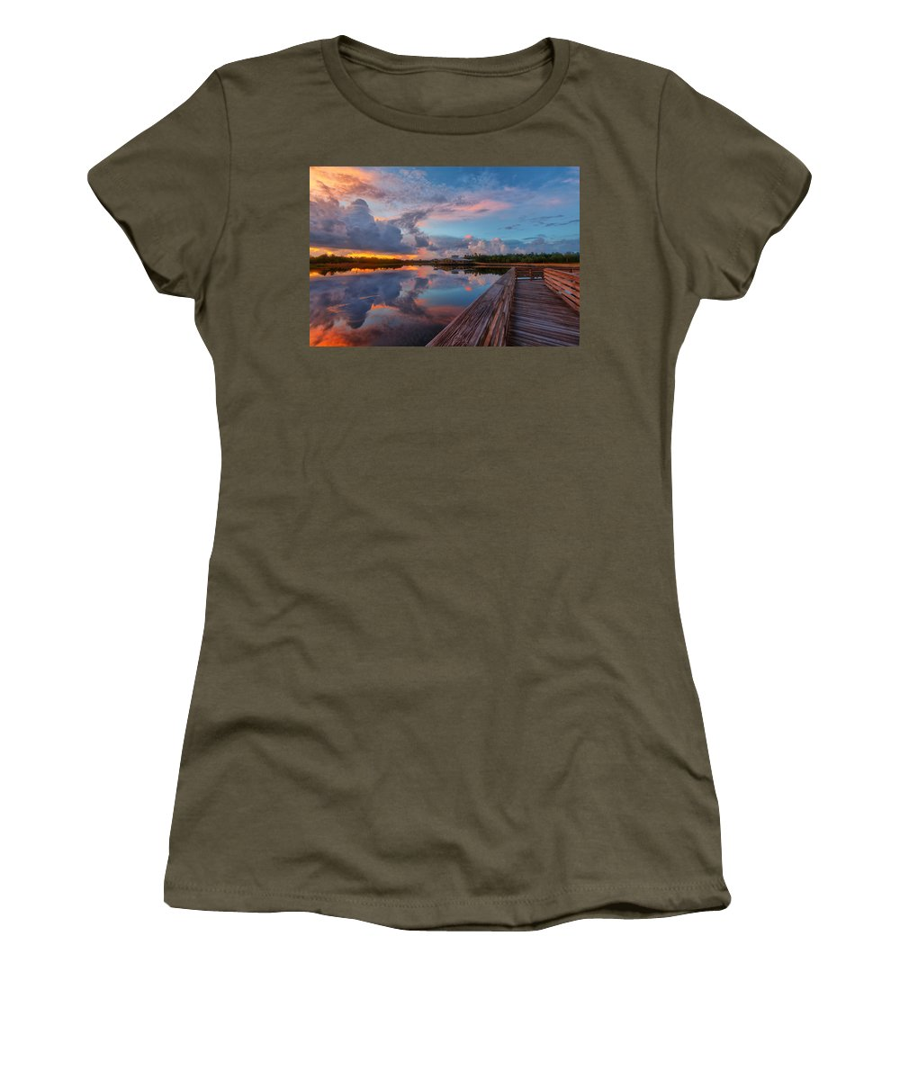 Usa Women's T-Shirt featuring the photograph A Storm Is Brewing by Claudia Domenig