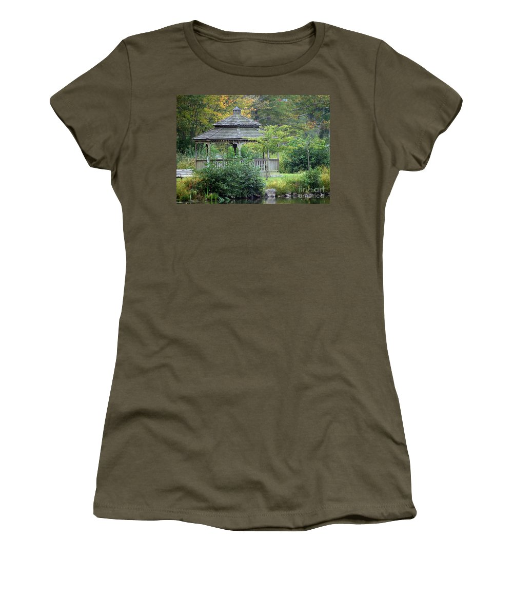 Autumn Women's T-Shirt featuring the photograph Autumn Days by Living Color Photography Lorraine Lynch