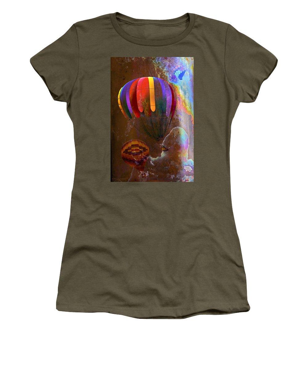 Balloons Women's T-Shirt featuring the photograph Balloon Racing by Phyllis Denton