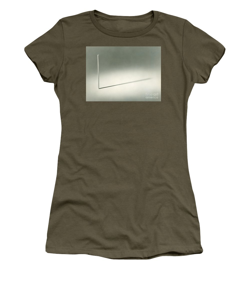 Shadow Women's T-Shirt featuring the photograph Behavior Of Shadow by Berenice Abbott