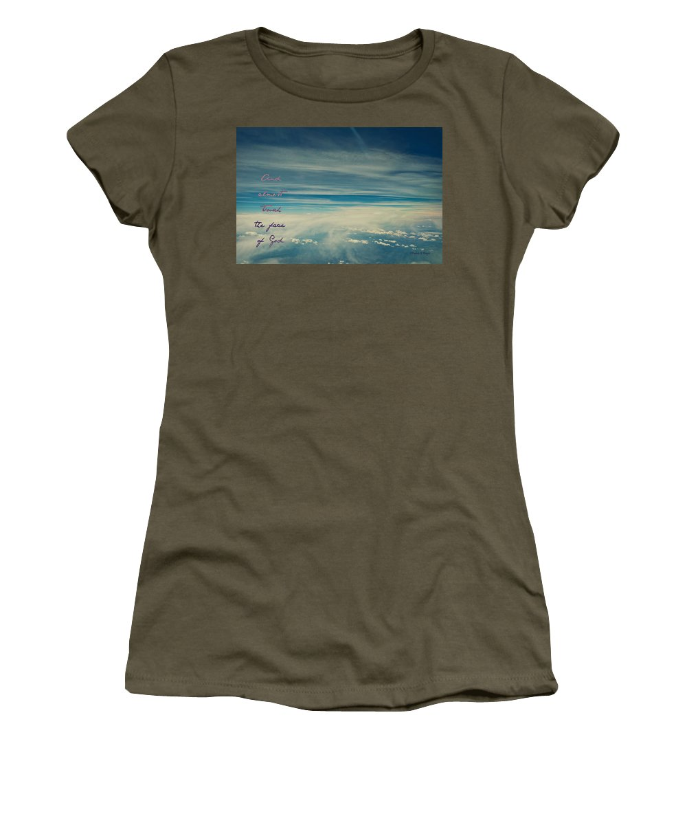 Interior Design Women's T-Shirt featuring the photograph Between Earth And Sky by Paulette B Wright