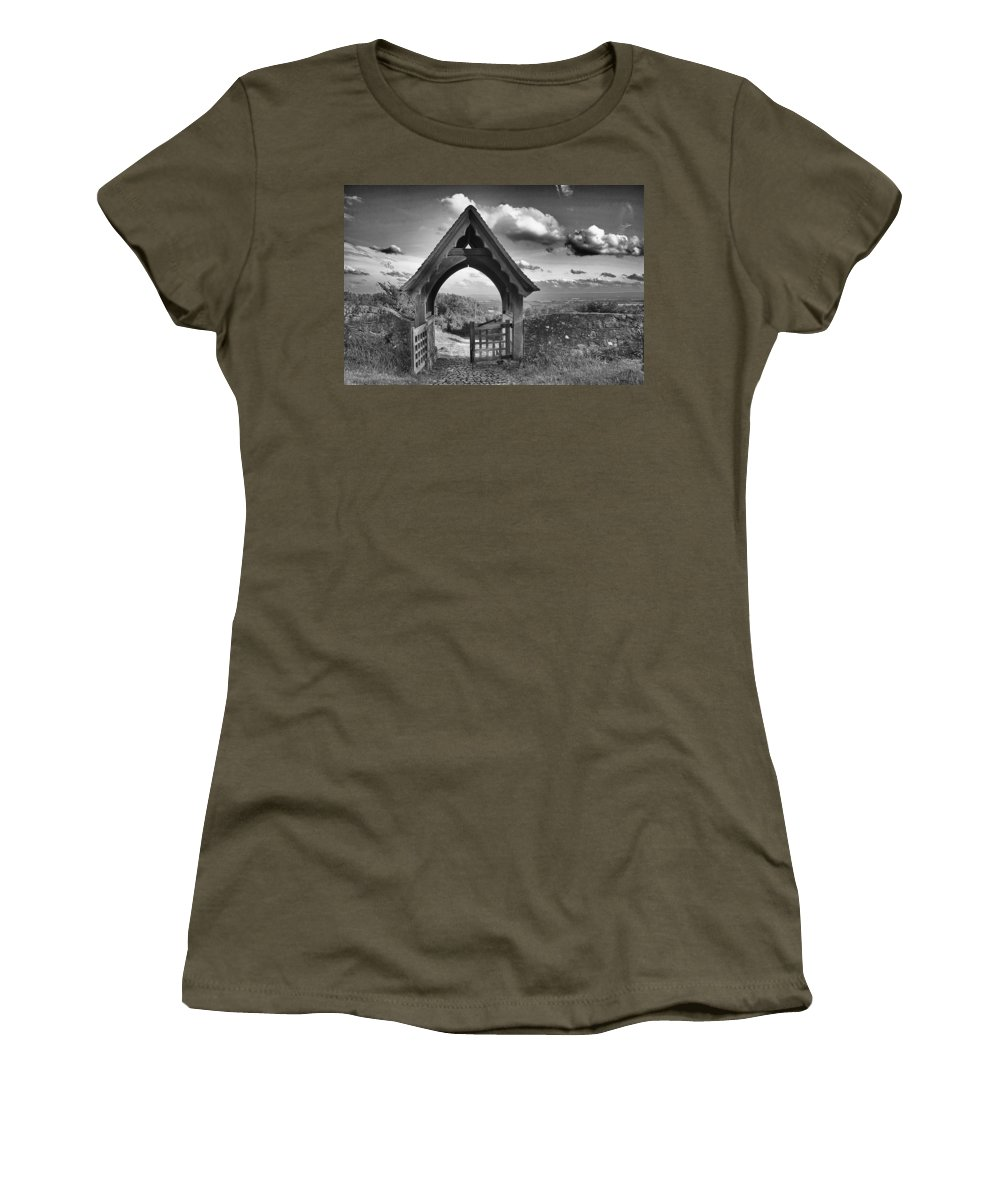 View Women's T-Shirt featuring the photograph Beyond The Gate by Dave Godden