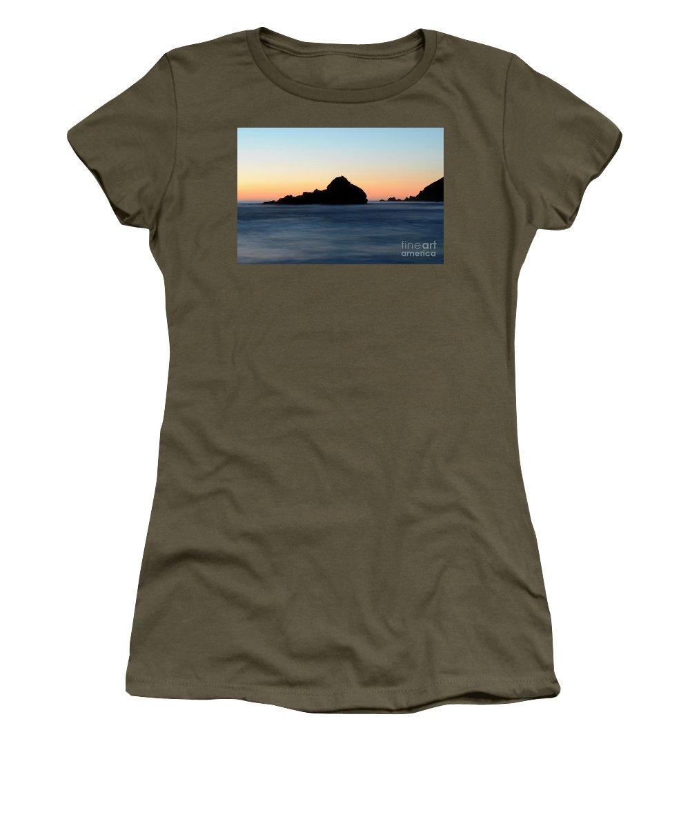Pfeiffer Rock Women's T-Shirt featuring the photograph Big Sur Sunset 2 by Bob Christopher