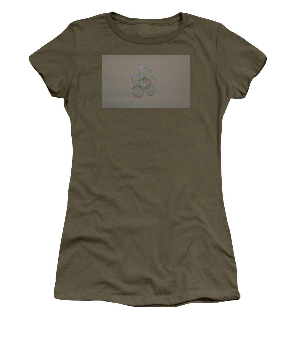 Bubble Women's T-Shirt featuring the photograph Bubble Bubble Toil And Trouble by Cathie Douglas