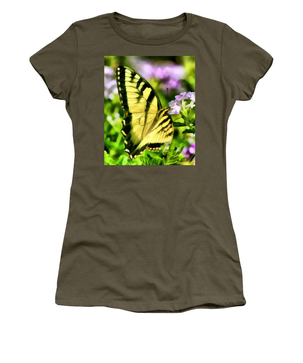 Butterfly Women's T-Shirt featuring the painting Butterfly by Lynne Jenkins