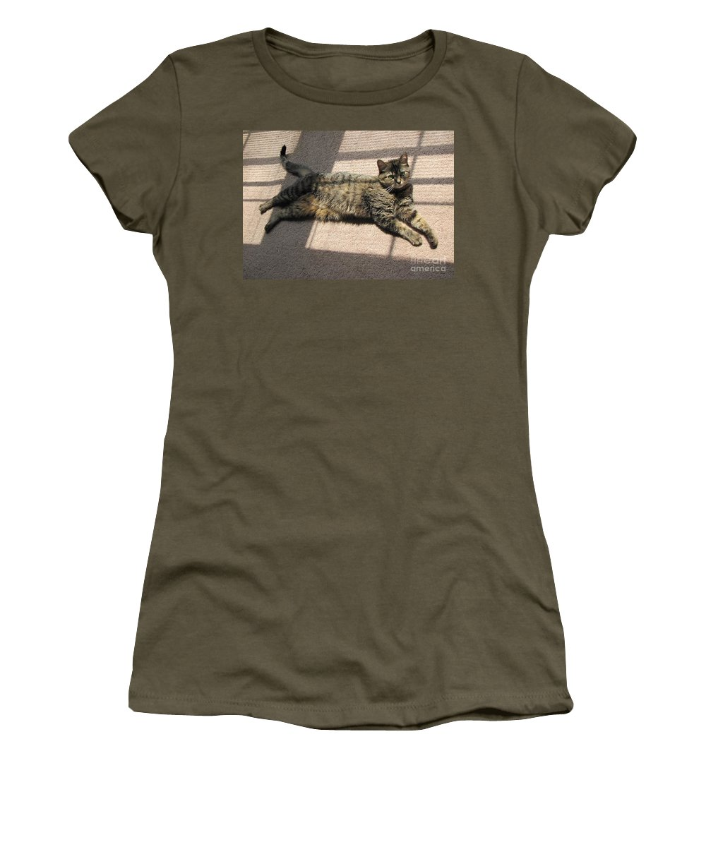 Cat Women's T-Shirt featuring the photograph Cat Life by Michelle Powell