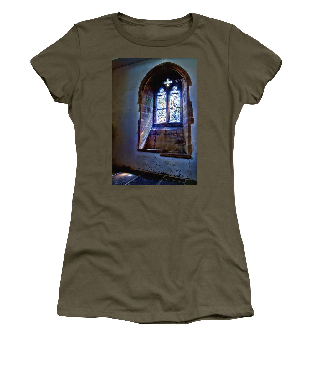 Window Women's T-Shirt featuring the photograph Chagall Window by Dave Godden