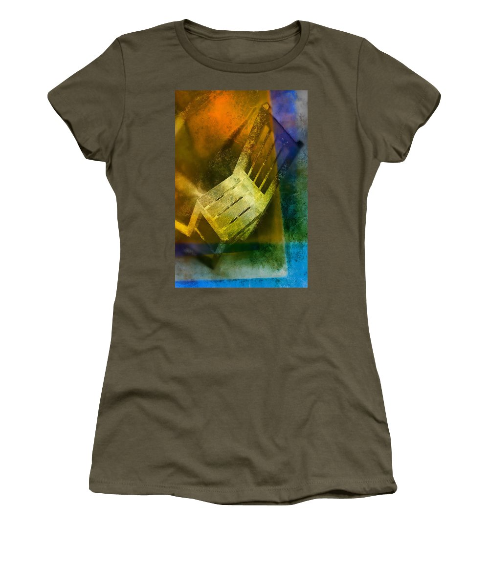Art Women's T-Shirt featuring the pyrography Chair by Mauro Celotti