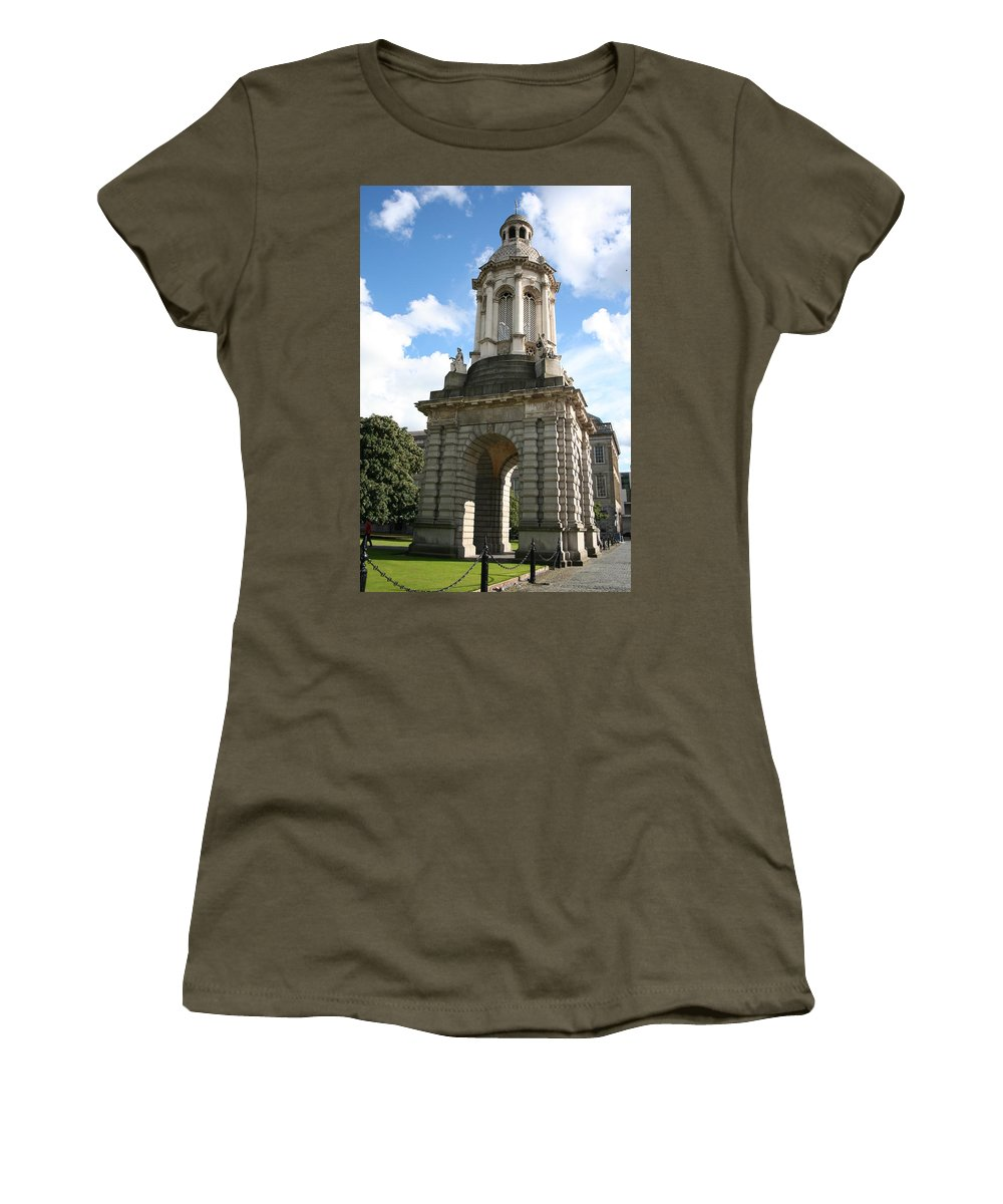 Trinity College Women's T-Shirt featuring the photograph City 0028 by Carol Ann Thomas