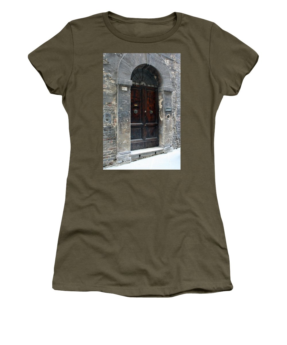 Door Women's T-Shirt featuring the photograph City 0037 by Carol Ann Thomas