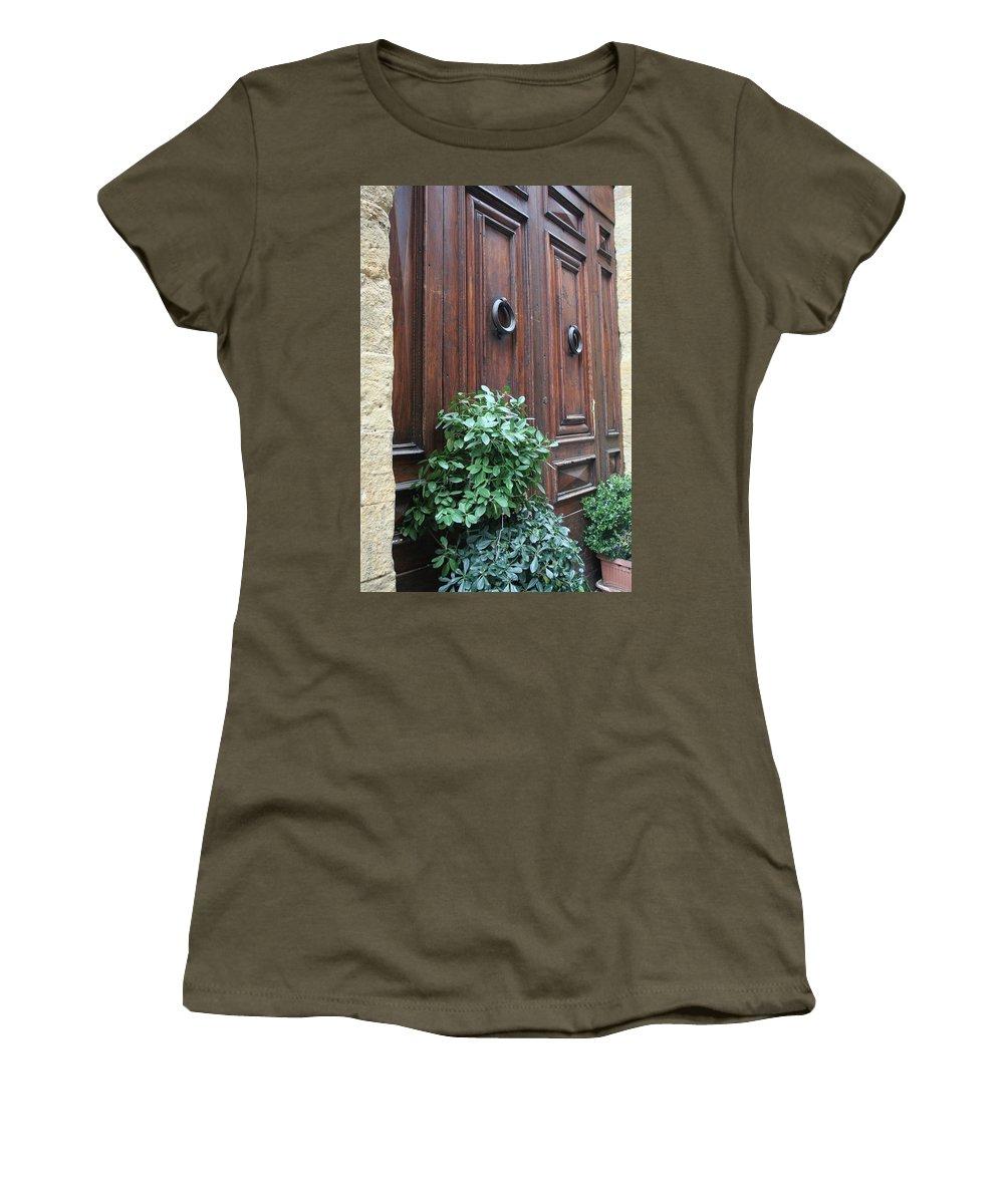 Door Women's T-Shirt featuring the photograph City 0041 by Carol Ann Thomas