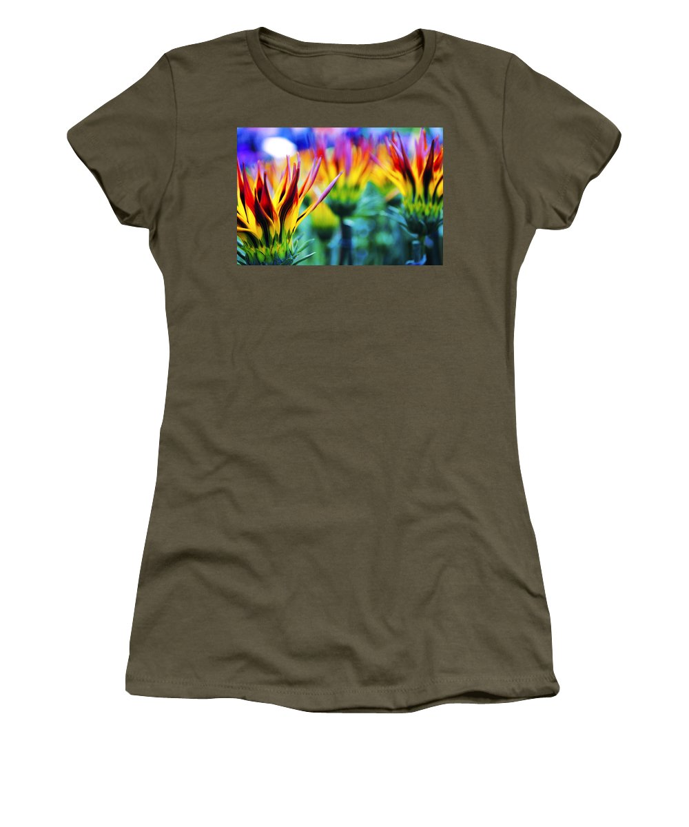 Colorful Women's T-Shirt featuring the photograph Colorful Flowers Together by Sumit Mehndiratta