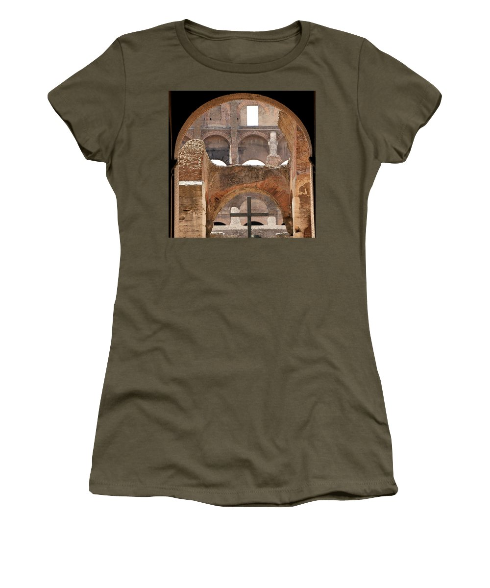 Colosseum Women's T-Shirt featuring the photograph Colosseum 2 by Andrew Fare