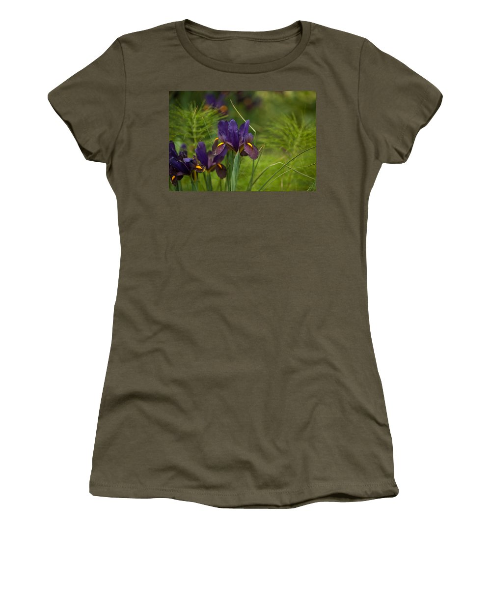 Flower Women's T-Shirt featuring the photograph Dark And Beautiful by Mike Reid