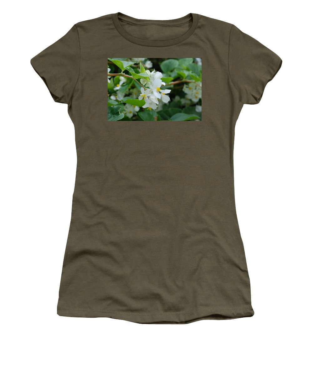 Flower Women's T-Shirt featuring the photograph Delicate White Flower by Jennifer Ancker