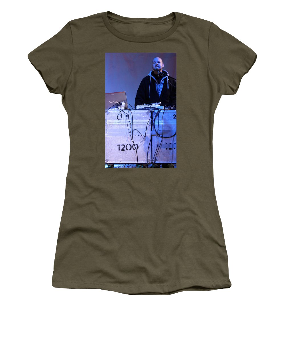Dj Women's T-Shirt featuring the photograph Dj Peter Pan In Bethlehem by Munir Alawi