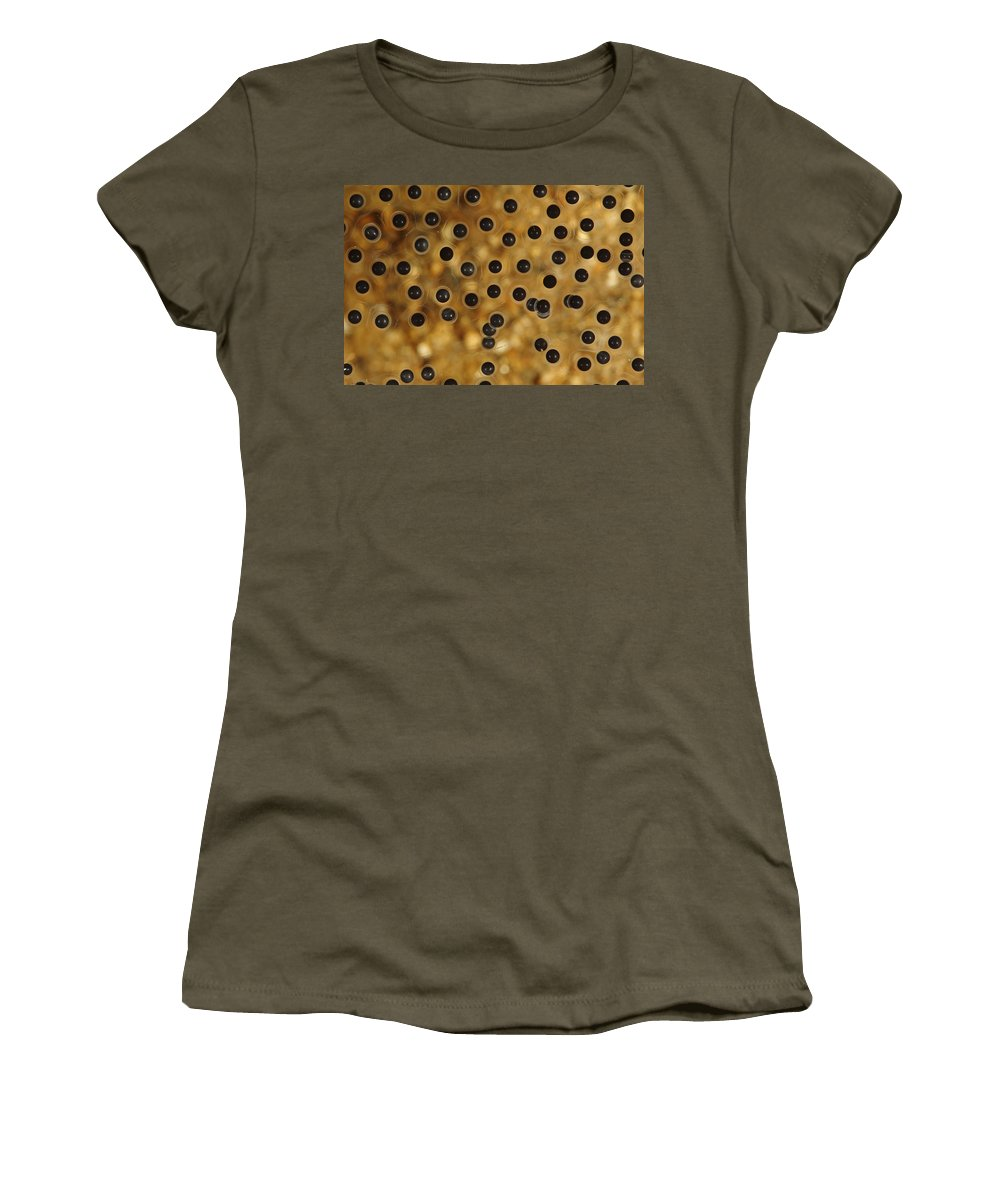 Mp Women's T-Shirt featuring the photograph Emerald-eyed Treefrog Eggs by Cyril Ruoso