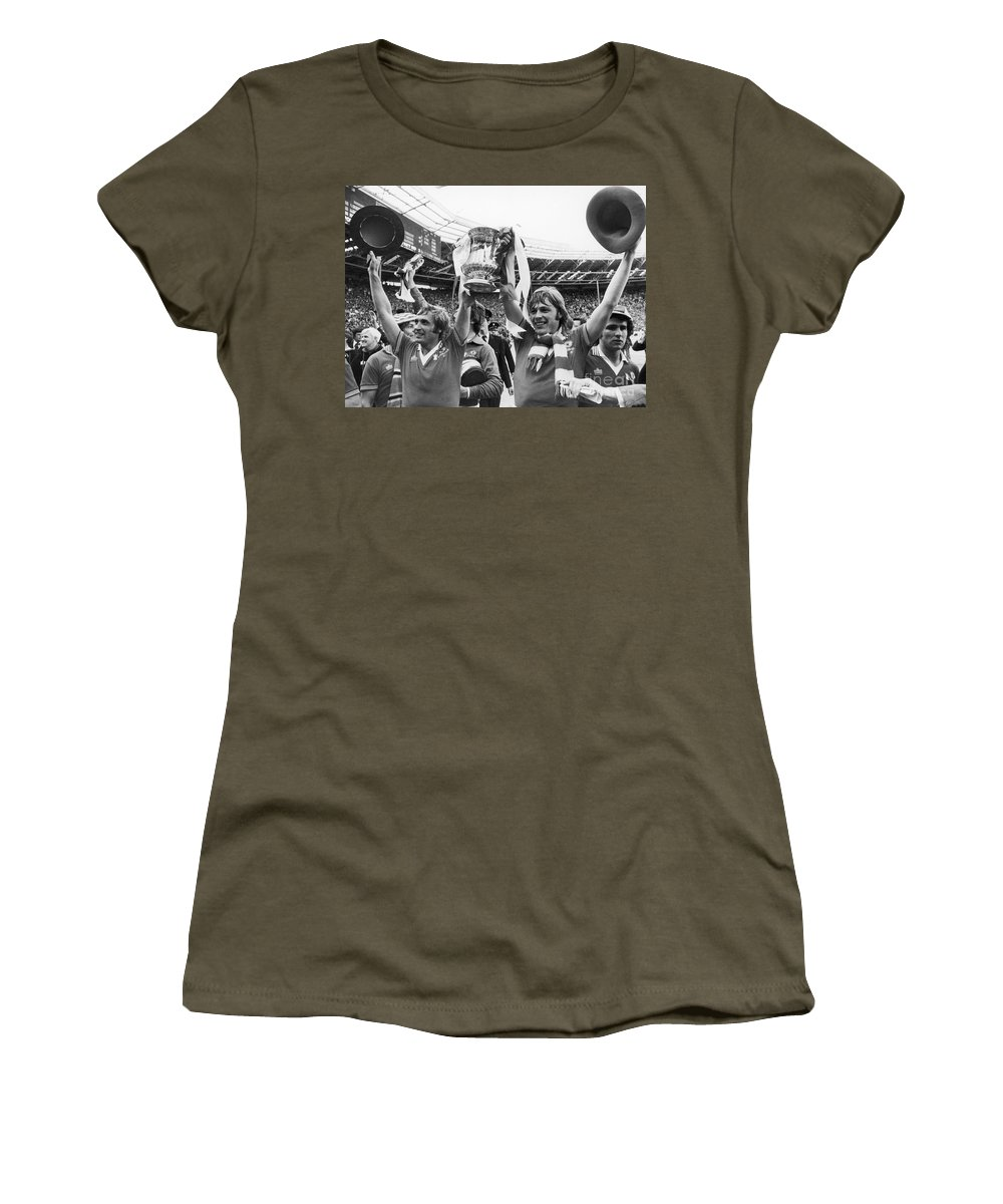 1977 Women's T-Shirt featuring the photograph England: Fa Cup, 1977 by Granger