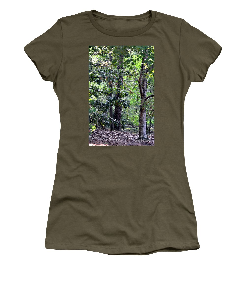 Forest Women's T-Shirt featuring the photograph Forest Trees by Maria Urso