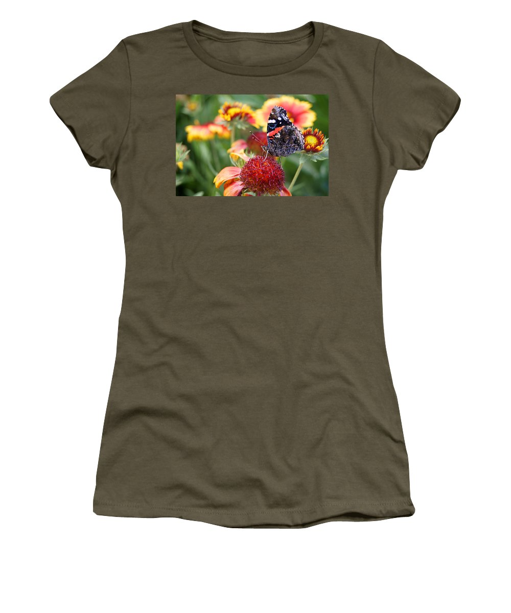 Butterfly Women's T-Shirt featuring the photograph Garden Svengali by Bill Pevlor