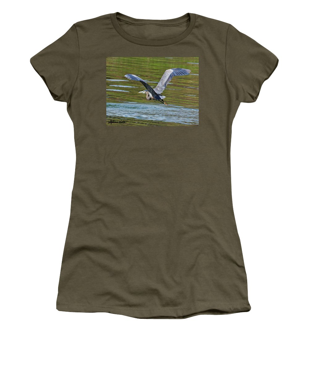 Nature Women's T-Shirt featuring the photograph Great Blue Heron by Stephanie Salter