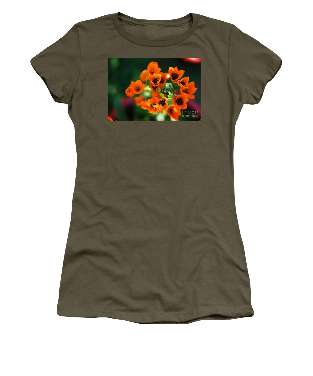 Flower Women's T-Shirt (Athletic Fit) featuring the photograph Growing Nebula by Syed Aqueel